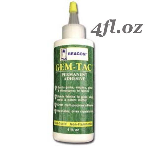 Beacon Gem Tac Fabric Glue Adhesive 4fl.oz (118ml)