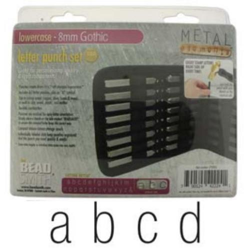 Beadsmith Gothic Alphabet Lower Case Letter 8mm Stamping Punch Set