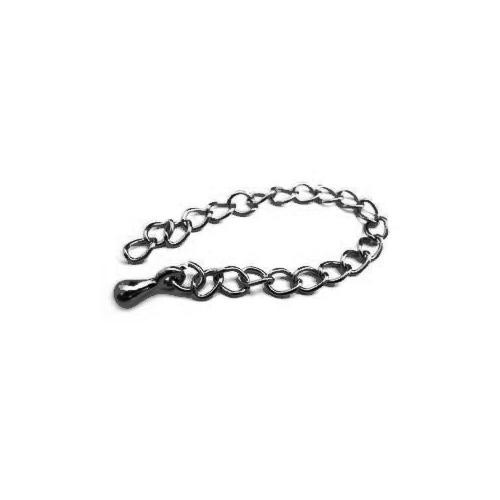 Gunmetal Black Oxide 83mm Necklace Extender - Extension Chains with drop x5