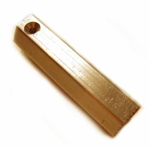 """Brass Hex Bar Stamping Blank 1/4"""" - 6.3mm"""