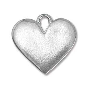 Pewter Soft Strike Heart 19x17.8mm 16g Stamping Blank x1