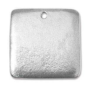 Pewter Soft Strike Square 24.8x24.6mm 16g Stamping Blank x1