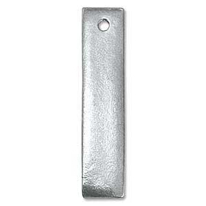 Pewter Soft Strike Rectangle Flat Bar 39.5x8.5mm 16ga Metal Stamping Blank x1