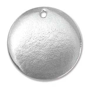 Pewter Soft Strike Circle 24mm 16g Stamping Blank x1