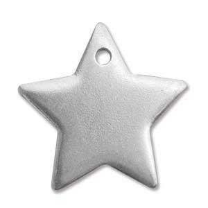 "Pewter Soft Strike Star 25mm 1"" 16g Stamping Blank x1"