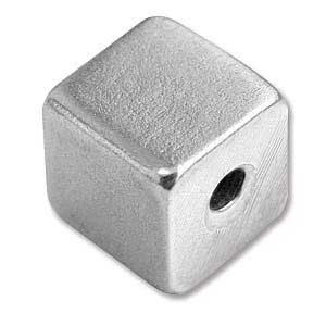 """Pewter Soft Strike Cube 12mm 1/2"""" Stamping Blank x1"""