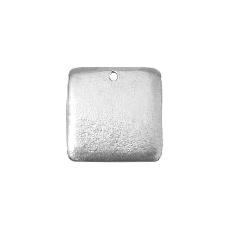 Pewter Soft Strike Square 3/4 16g Stamping Blank x1