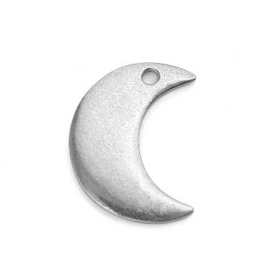 Pewter Soft Strike Crescent Moon, 7/8 x 3/4 inch 16g Stamping Blank x1