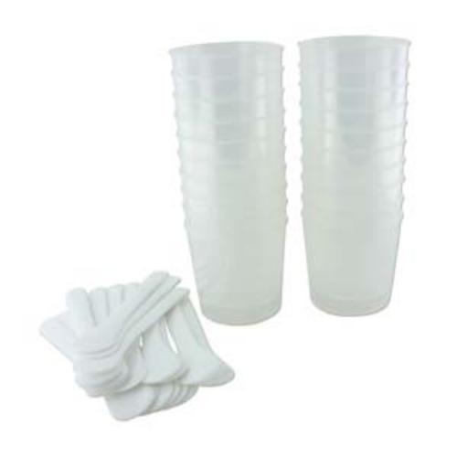ICE Resin Large 2 oz Measuring Cups and Sticks Bulk x20 (New Style)