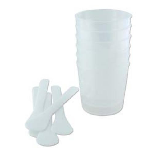 ICE Resin Large 2 oz Measuring Cups and Sticks x5 (New Style)