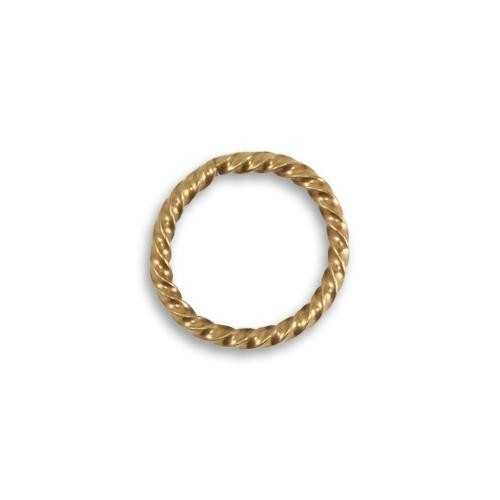 Vintaj Vogue Solid Brass 17mm 13ga Roped Cable Jump Ring x1 (Open)