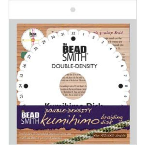 Beadsmith Kumihimo Double Density 6 inch Round Braiding Disk Disc (with instruction)
