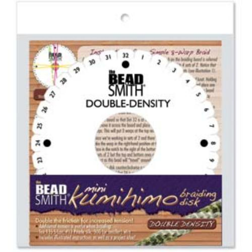 Beadsmith Kumihimo Double Density 4.25 inch Round Braiding Disk Disc (with instruction)