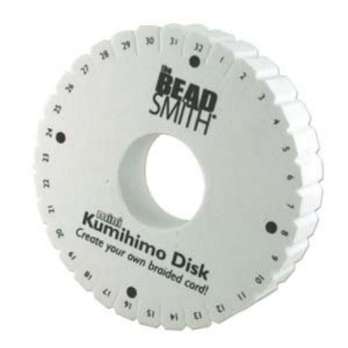 Beadsmith Kumihimo Double Density 4.25 inch Round Braiding Disk Disc