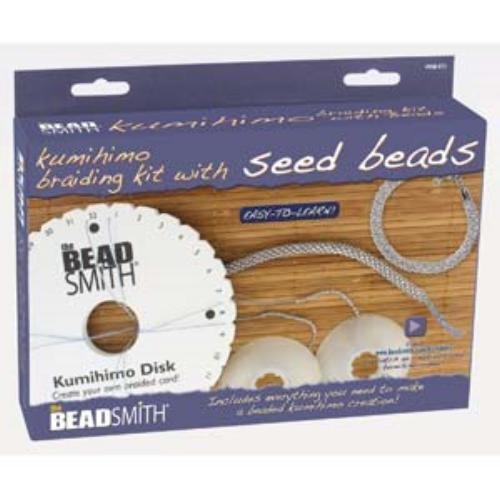 Beadsmith, Round Plate with Seed Beads Kumihimo Braiding Kit, Starter Pack