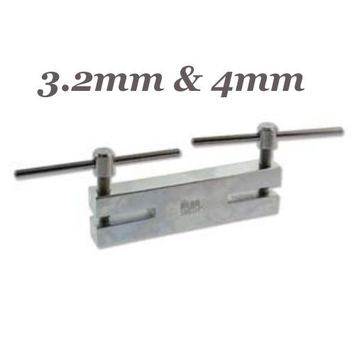 Beadsmith Double Metal 2 Hole Punch 3.2mm, 4mm, Jewellery Tools