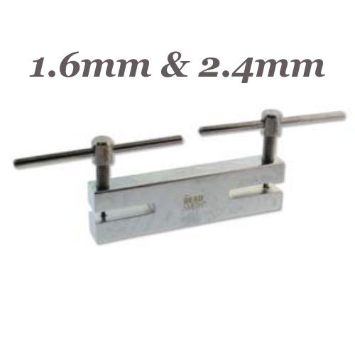 Beadsmith Double Metal 2 Hole Punch 1.6mm, 2.4mm, Jewellery Tools