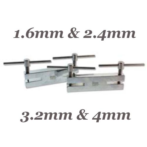 Beadsmith Double Metal 2 Hole Punches Set  1.6mm 2.4mm, 3.2mm, 4mm, Jewellery Tools