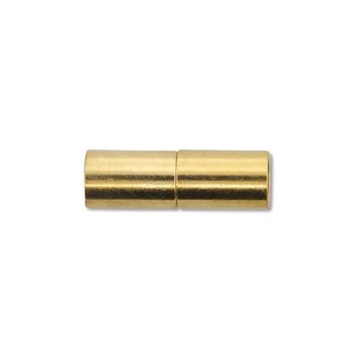 Kumihimo Glue in Magnetic Clasp 6.2mm id Gold Plated x1