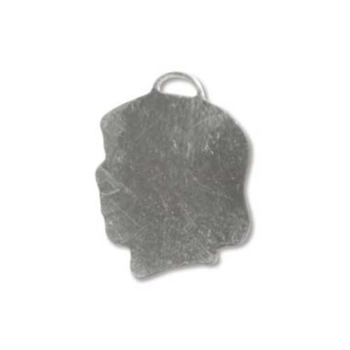 Sterling Silver Girl Head Silhouette 20x15mm 24g Stamping Blank Charm x1