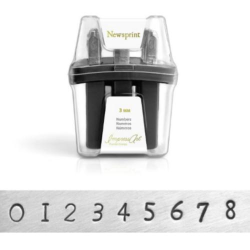 Premium Newsprint Number 3mm 1/8 Stamping Set  - ImpressArt