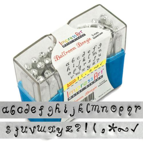 DEADSTOCKED ImpressArt Ballroom Boogie 3mm Alphabet Lower Case Letter Metal Stamping Set (Old Style Box) DEADSTOCKED