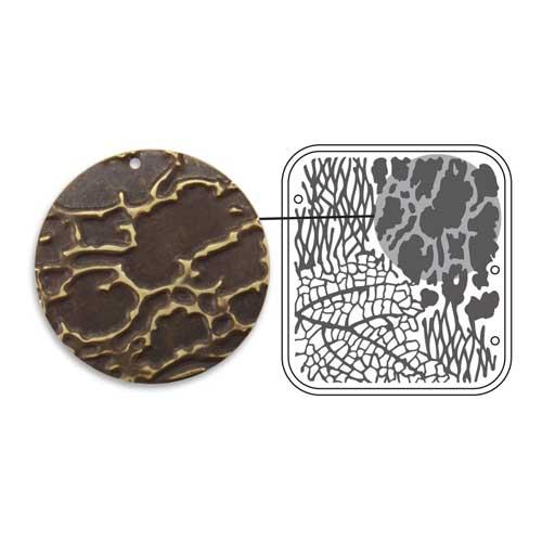 Vintaj Natural Brass - Sizzix DecoEmboss Die - Organic Texture