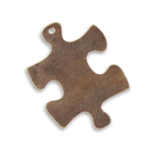 Vintaj Natural Brass 24mm Puzzle Piece Blank x1