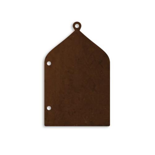 Vintaj Natural Brass 38x26mm Persian Door Frame Blank (Back) with loop/ring x1