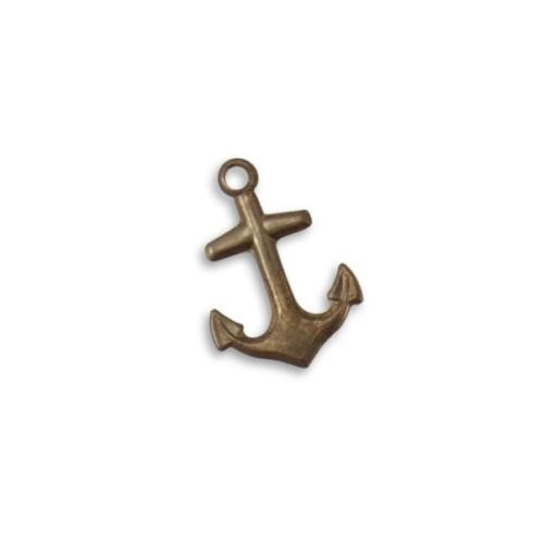 Vintaj Natural Brass 21x15mm Nautical Anchor Charm x1