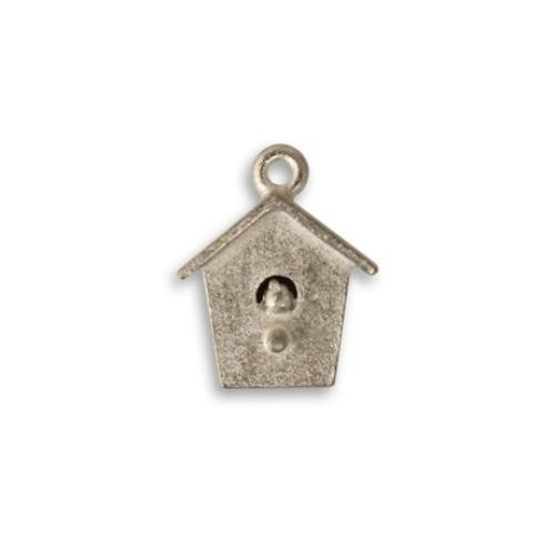 Vintaj Aristan Pewter 17x14mm Bird House Charm x1