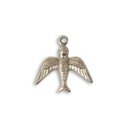 Vintaj Aristan Pewter 17x17mm Upward Bird Charm x1