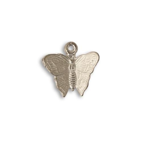 Vintaj Aristan Pewter 16x15mm Fluttering Butterfly Charm x1