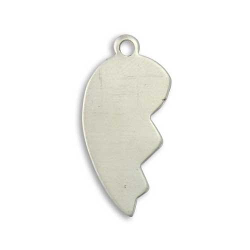 Vintaj Artisan Pewter 31x14mm Broken Heart Left Stamping Blank x1