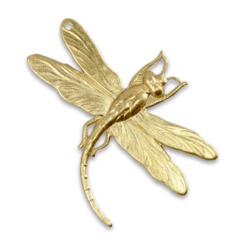 Vintaj Vogue Brass 47x35mm Art Deco Dragonfly x1