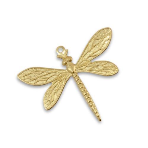 Vintaj Vogue Brass 35x30mm Queen Dragonfly x1