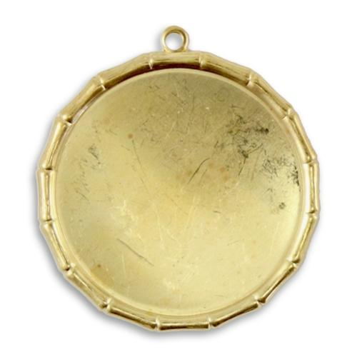 Vintaj Vogue Brass 40mm Bamboo Bezel Large x1