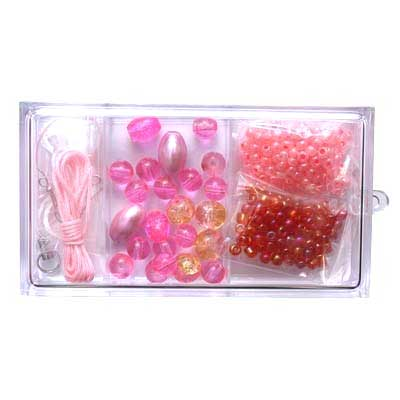 Beading Kit for Jewellery Making - Pink