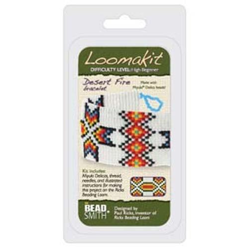 Beadsmith Ricks Loom Loomakit Bracelet Jewellery Kit - Desert Fire