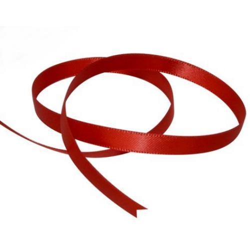 Satin Ribbon 3mm ~ Red 5m
