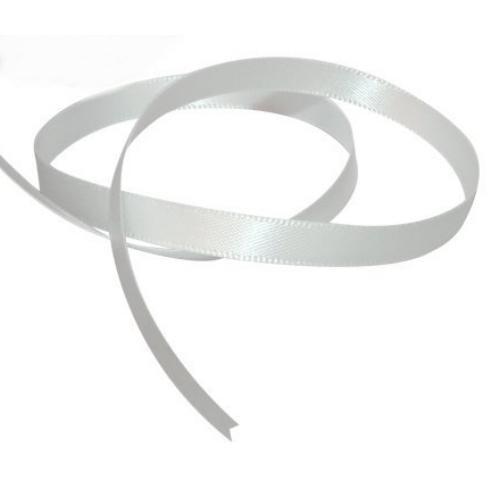 Satin Ribbon 3mm ~ White 5m