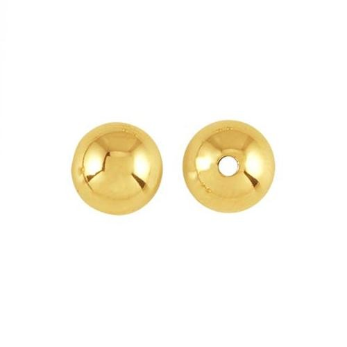 14kt Gold 7mm Round Bead x1