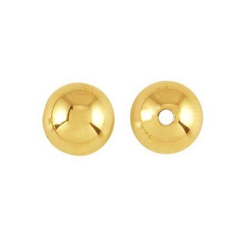 14kt Gold 8mm Round Bead x1