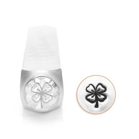 ImpressArt Lucky 4 Leaf Clover 6mm Metal Stamping Design Punches
