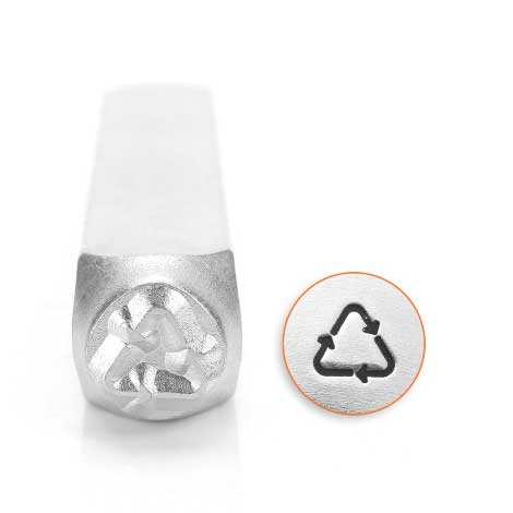 *PRE-ORDER, Special Order* Recycle Symbol 6mm Metal Stamping Design Punches - ImpressArt