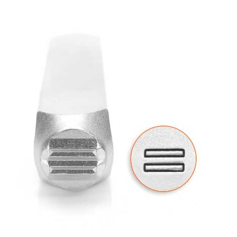 *PRE-ORDER, Special Order* Equal Equality 6mm Metal Stamping Design Punches - ImpressArt