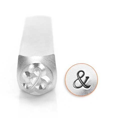 ImpressArt Fancy Ampersand & 6mm Metal Stamping Design Punches