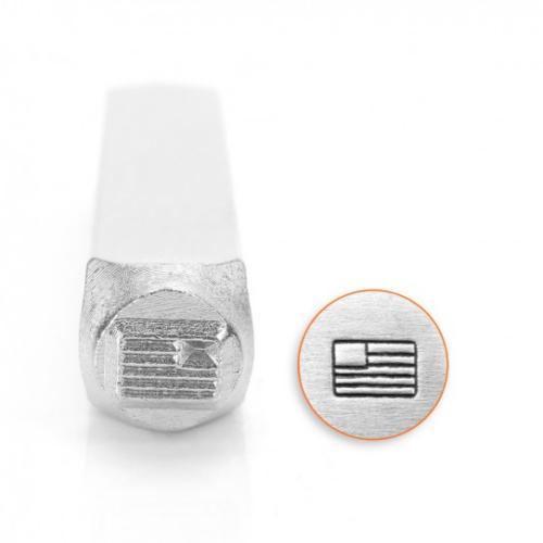 ImpressArt, American Flag Design 6mm Metal Stamping Design Punches