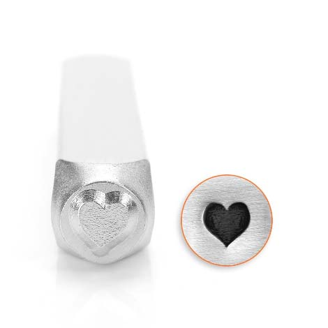 ImpressArt, Solid Heart 6mm Metal Stamping Design Punches
