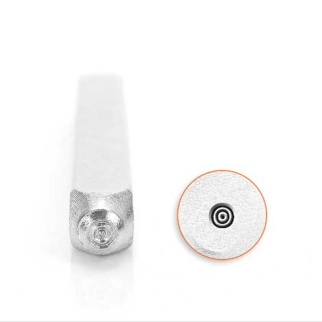 Bullseye 3mm Metal Stamping Design Punches - ImpressArt